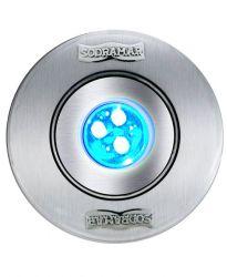 REFLETOR HIPER LED 9W CORPO ABS/FRONTAL INOX P/ ATÉ 14M²
