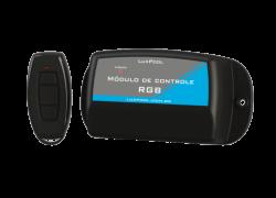 CENTRAL DE CONTROLE RGB 63W + 2 SAÍDAS AUXILIARES 1CV + FONTE 5A 12V-110/220V